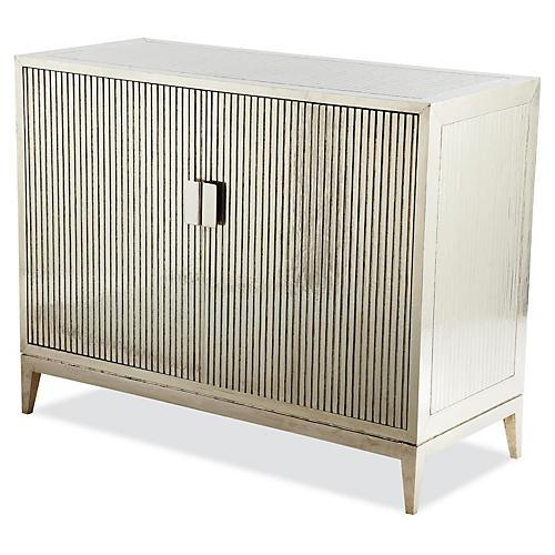 Baxter Ribbed Dresser, German Silver