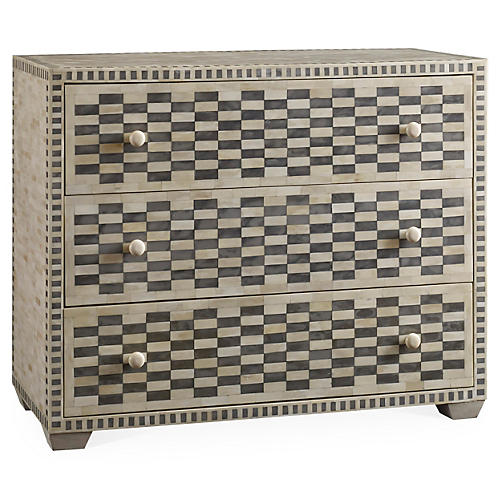 Keeley Checkered Dresser, Charcoal