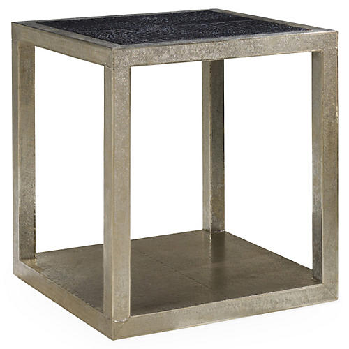 Dempsey Side Table, German Silver