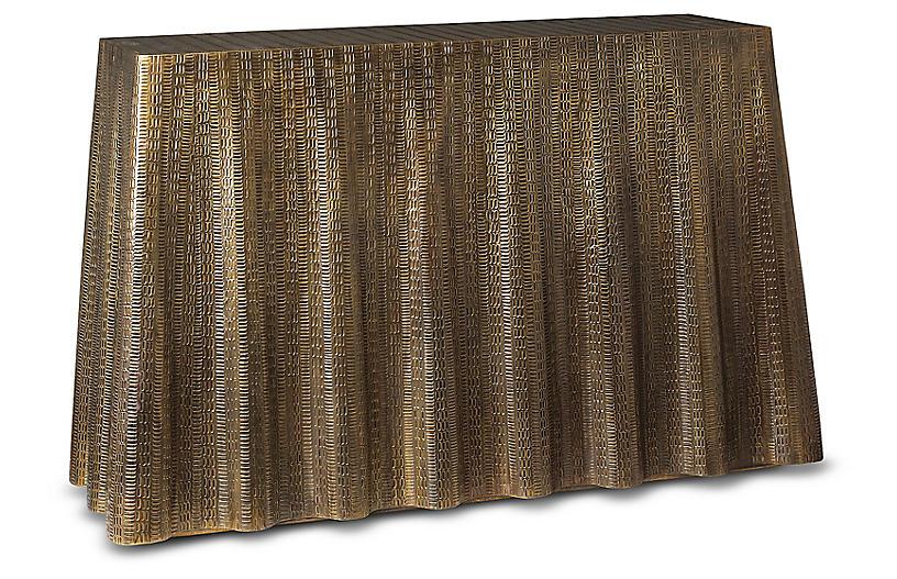 Bijou Drape Console, Gold