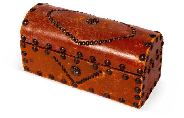 Leather Studded Box