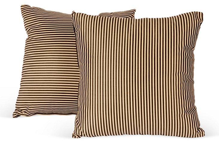 Pinstripe Pillows, Pair