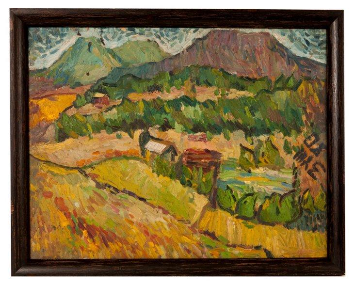 Oil Painting, Hillside