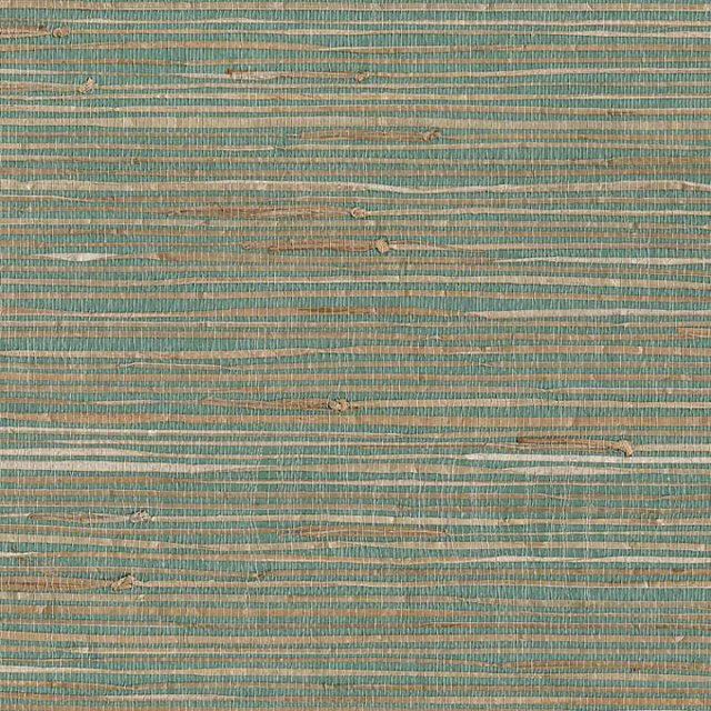 Grasscloth, Turquoise