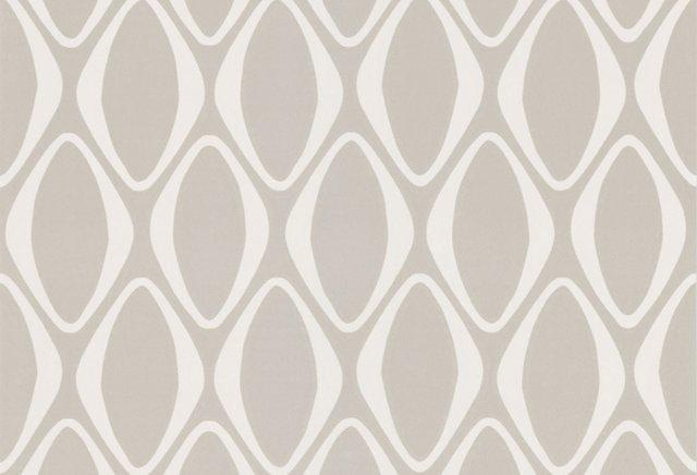Diamond Geometric Wallpaper, Light Gray