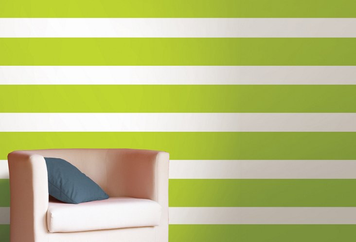 Stylin Green Stripe Wall Decor Pack