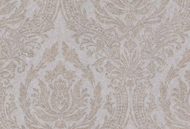 Directoire Damask, White/Taupe