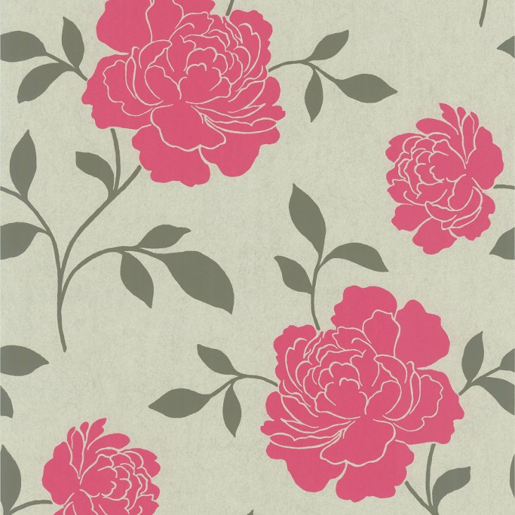 Clara Floral Silhouette, Pink
