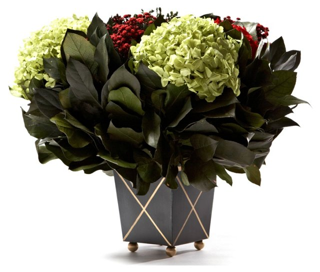 Red Arrangement in Black Container