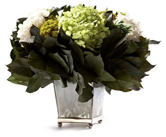 "14"" Brunia & Roses in Box, Preserved"