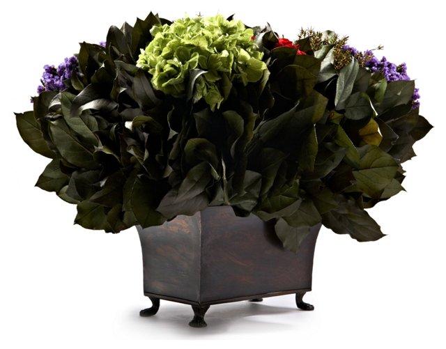 Erica & Roses in Rectangular Container