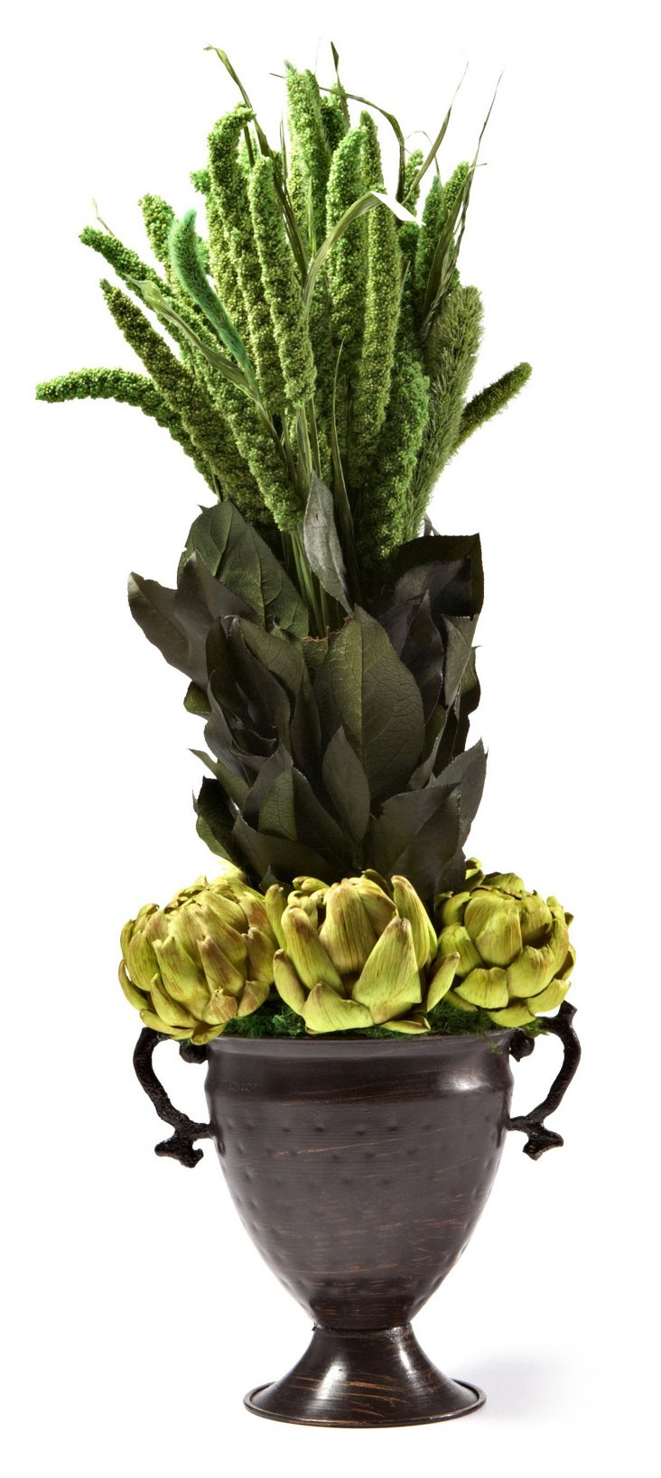 China Millet & Artichokes in Trophy Vase