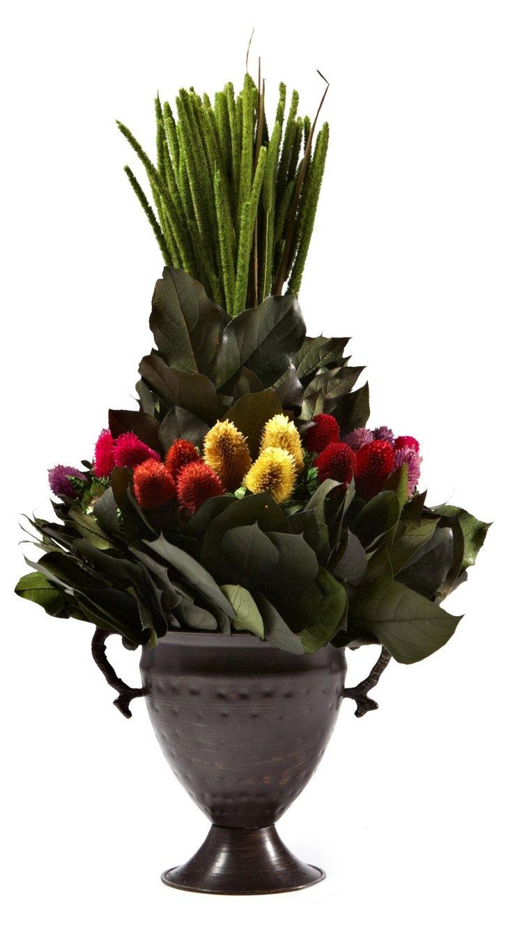 Millet & Clover in Trophy Vase