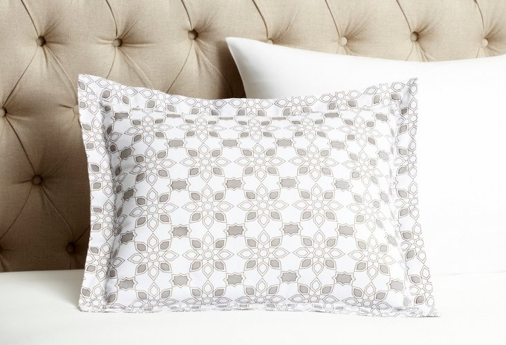 "Taj Mela 16"" x 20"" Pillowcase, Taupe"