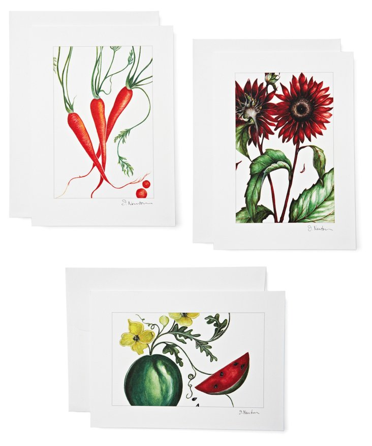 S/6 Note Cards, Farm Stand