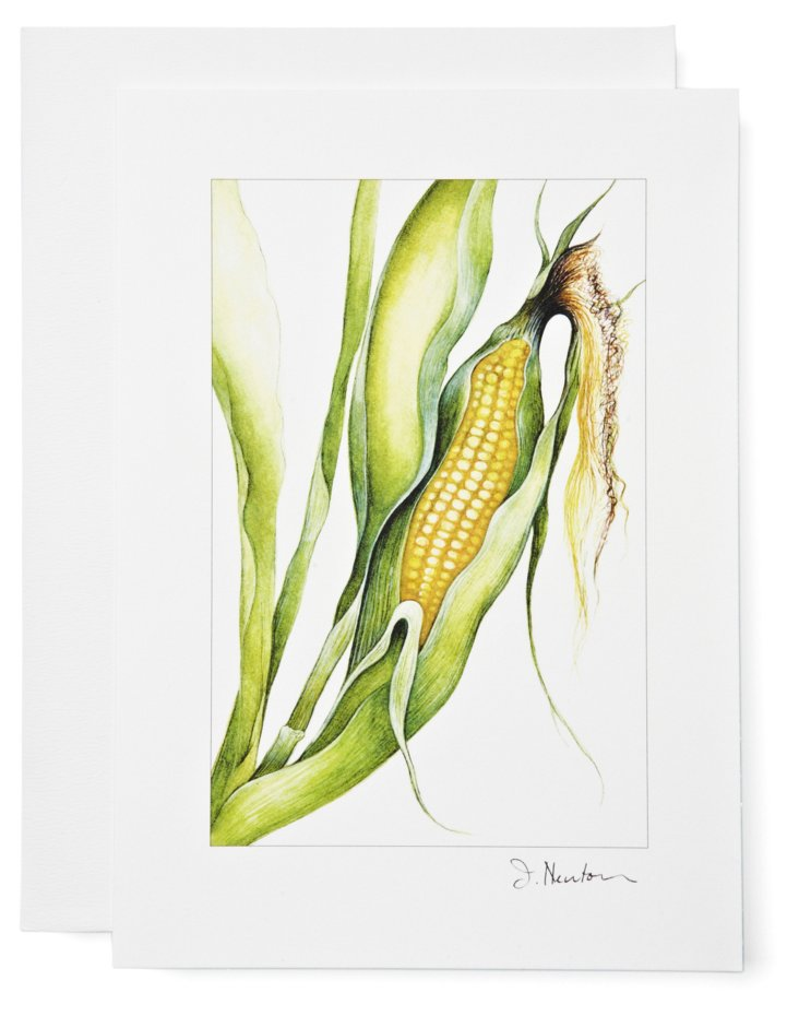 S/12 Note Cards, Corn