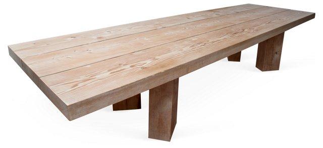 Long Solid Douglas Fir Table