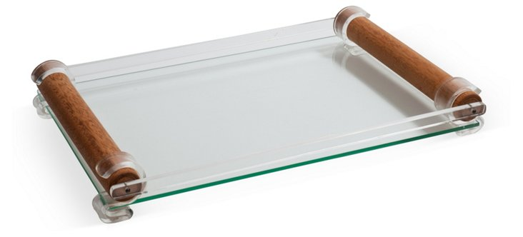 Glass & Lucite Tray