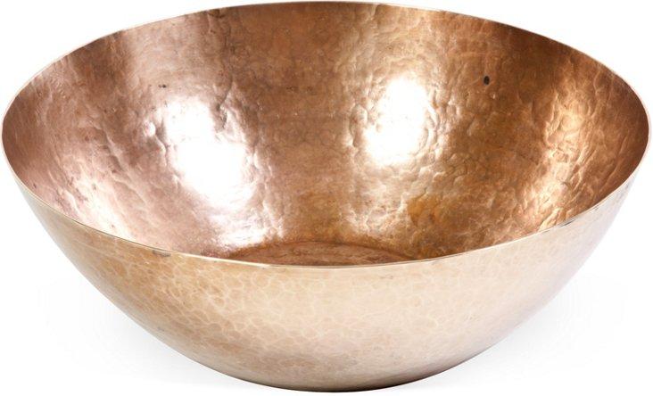 Hand-Wrought Brass Bowl