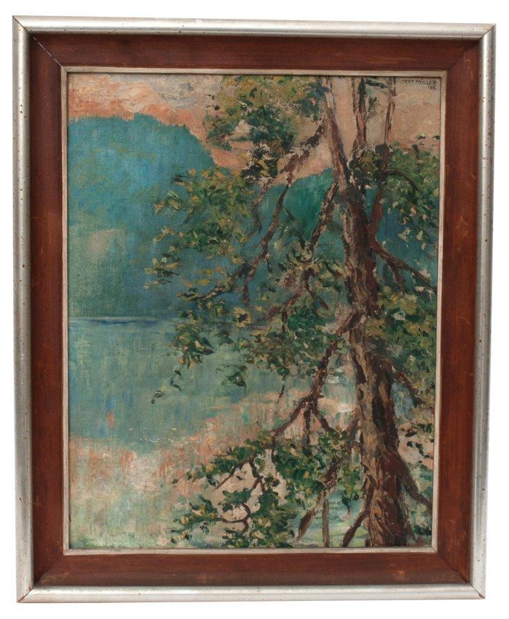 Oil Painting, Pine Landscape