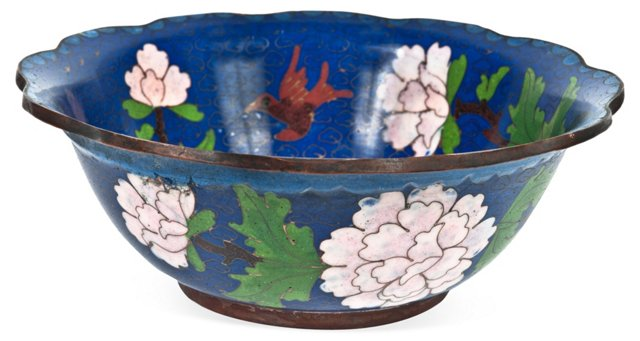 Floral Motif Cloisonné Bowl
