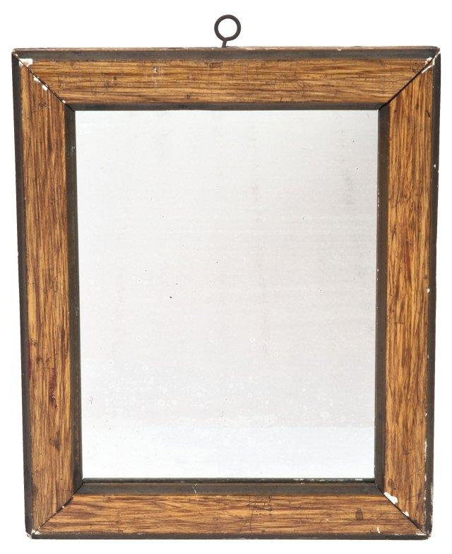1930s Faux-Wood-Grain Mirror