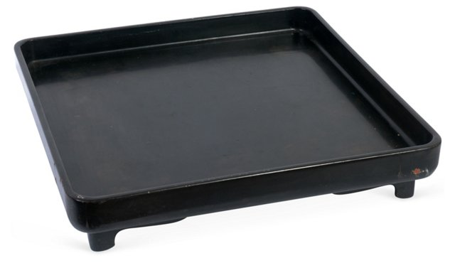 C. 1950 Footed Lacquered Tray