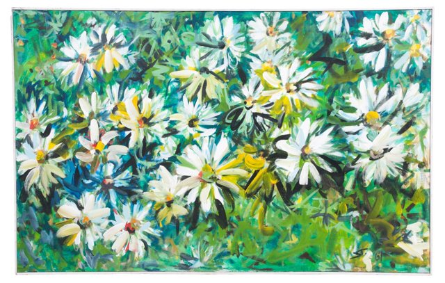 Floral Oil Painting, 1967