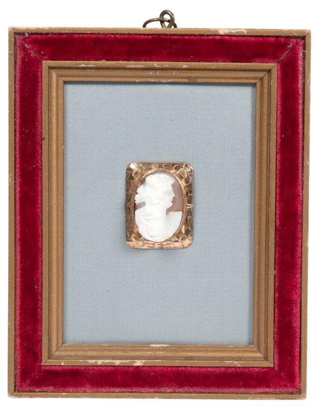 1890s Framed Cameo Brooch III