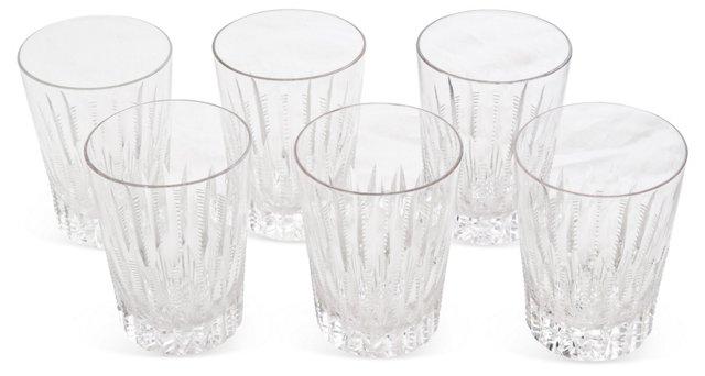 Cut Crystal Glasses, Set of 6