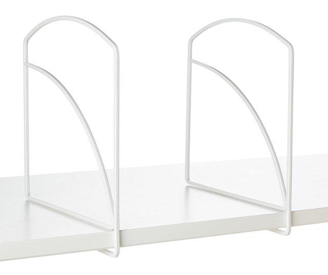 "S/4 White Shelf Dividers, 9.4"" Tall"