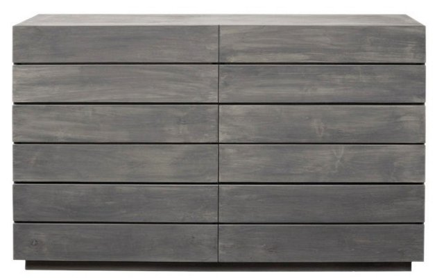Laguna 6-Drawer Dresser, Gray Wash