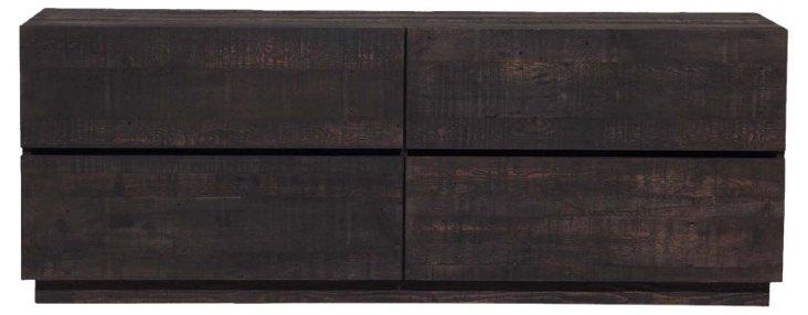 Luis 4-Drawer Dresser, Espresso