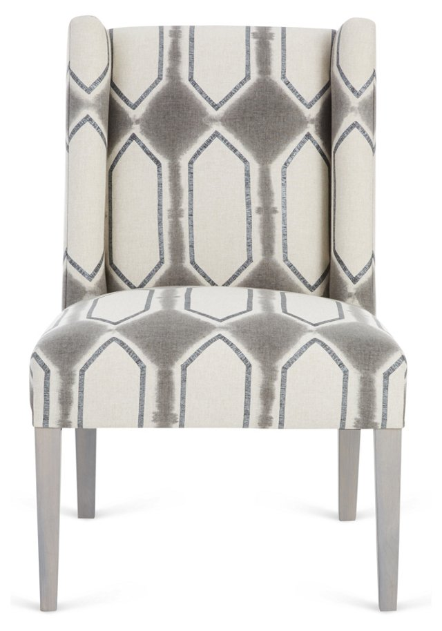 Campbell Side Chair, Oatmeal/Charcoal