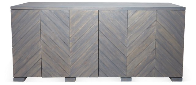 "Penn 80"" Sideboard, Dark Gray Wash"