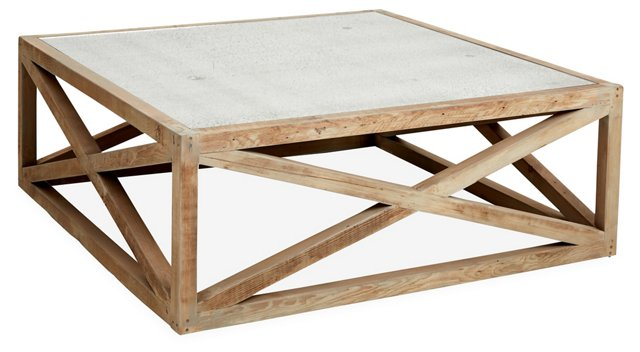 "Manning 48"" Square Coffee Table, Natural"