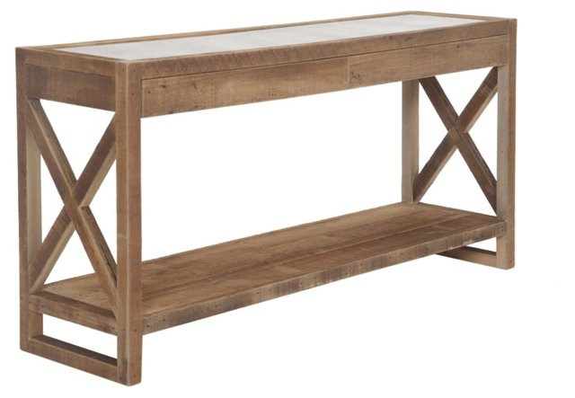 """Manning 71"""" Console, Natural"""
