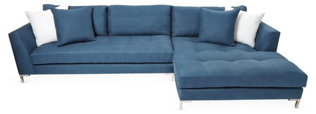 Walden Right-Facing Sectional, Navy