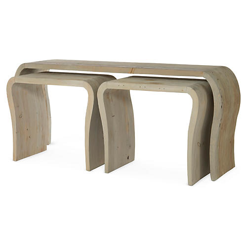 Hughes Console Nesting Tables, Natural