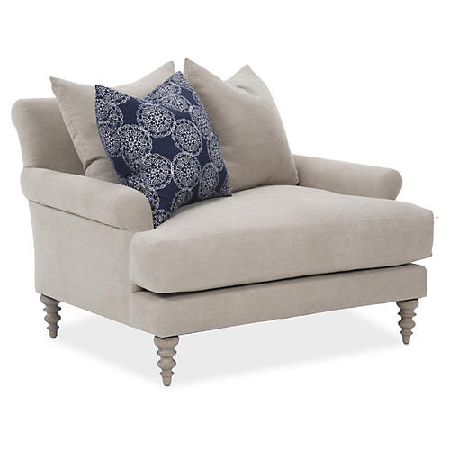 Elizabeth Chair-and-a-Half, Dune Linen