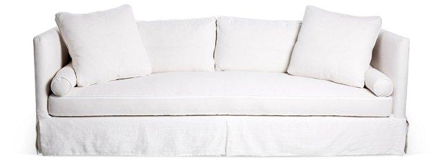 Oliver Slipcover Sofa, White