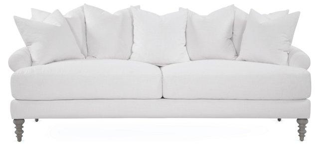 "Elizabeth 91"" Sofa, White"