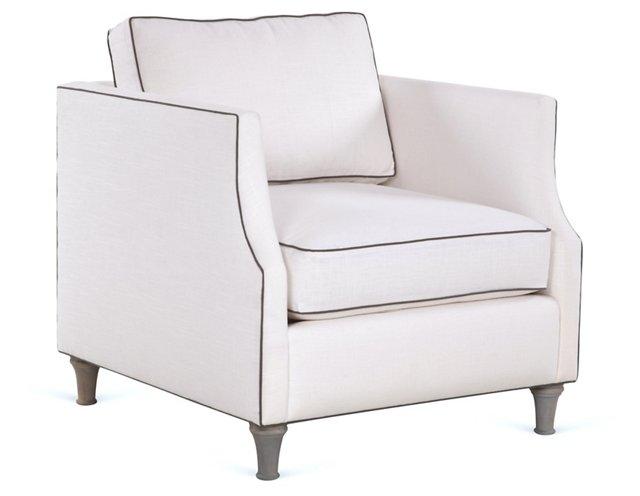 Dumont Club Chair, White