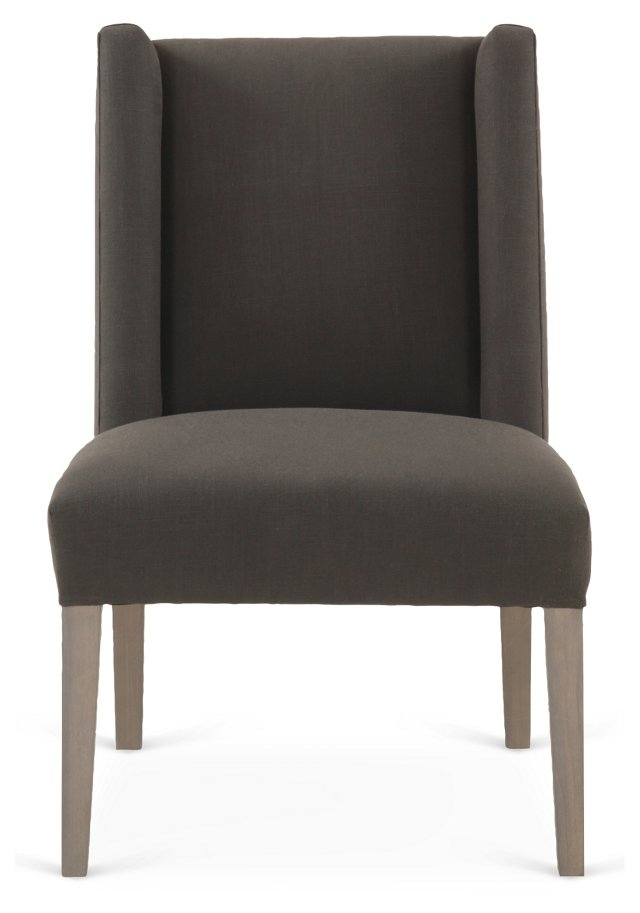 Campbell Side Chair, Charcoal