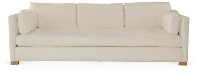 """Cara 96"""" Sofa, White"""