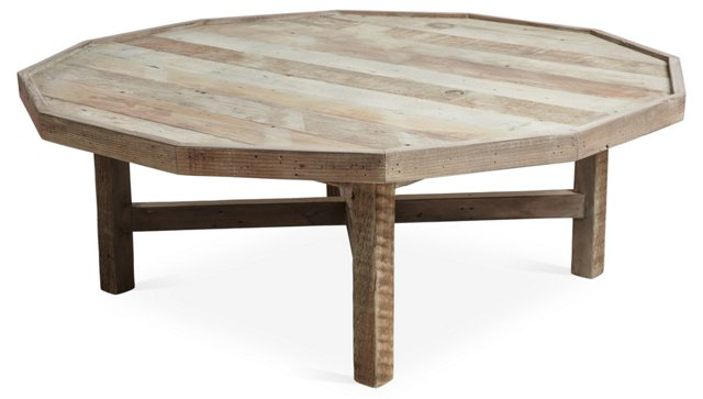 Octagonal Coffee Table, Natural