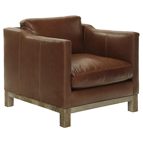 Cara Club Chair, Saddle Leather