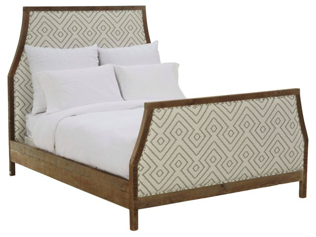 Marie Linen Bed, Cream
