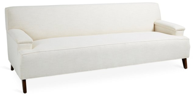 "Davis 91"" Linen Sofa, Natural"