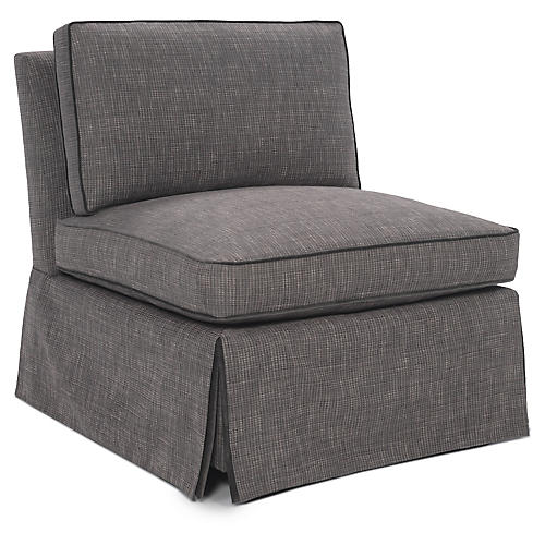 Ascot Slipper Chair, Gray